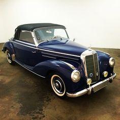 Same owner since 1964. Royal blue 1952 Mercedes 220A Cabriolet!