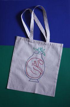 Tote bag lady jar by CeliaBruneau on Etsy