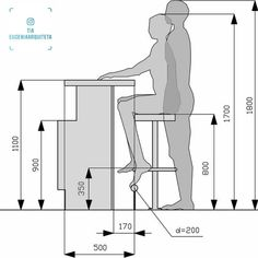 Useful Standard Dimensions For Home Furniture – Engineering Discoveries - This is Pubg Kitchen Room Design, Home Decor Kitchen, Kitchen Interior, Modern Kitchen Design, Basement Bar Designs, Home Bar Designs, Basement Ideas, Diy Home Bar, Bars For Home