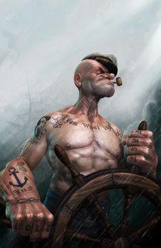 Popeye the sailor - badass
