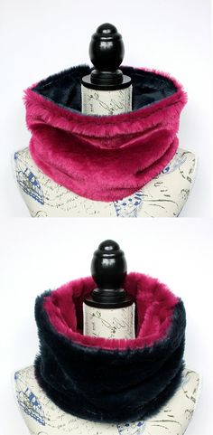 Women Fur Hood - Women fur Collar - Furry Neckwarmer - Winter Fur Collar - Fake Fur Loop - Festival fur Hood - Designer Fur Scarf