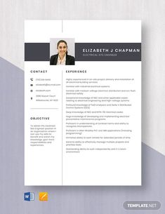 FREE Electrical Engineer Fresher Resume Template - Word (DOC) | PSD | InDesign | Apple (MAC) Apple (MAC) Pages | Publisher | Illustrator | Template.net Resume Design Template, Cv Template, Resume Templates, Electrical Engineering Jobs, Engineering Careers, Resume Cv, Word Doc, Apple Mac, Net