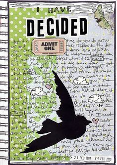 Art Journal inspiration: Original pinner sez: love the layout of the journaling