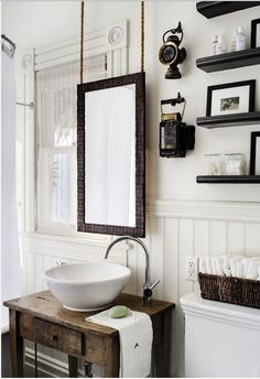 (mirror) How to design a vintage style bathroom - Fat Shack Vintage - Fat Shack Vintage