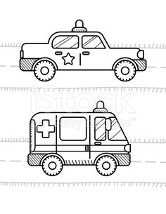 Cars Coloring Book For Kids Ambulance Police