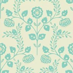 Lucerne (110289) - Harlequin Wallpapers - A beautiful floral trail motif. Showing in blue on a metallic pearl background - other colour ways available. Please request a sample for true colour match. Paste-the-wall product.
