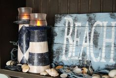 DIY Lighthouse Candle holder from Cereal Boxes