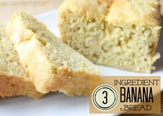 3 Ingredient Banana Bread from Sixsistersstuff.com. It doesn't get any easier than this! #banana #bread
