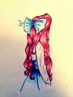 Super Disney Art Sketches Draw Little Mermaids Ideas Amazing Drawings, Beautiful Drawings, Cute Drawings, Amazing Art, Cute Disney Drawings, Realistic Drawings, Awesome, Disney Kunst, Arte Disney