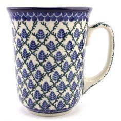 Large Mug 17.6 oz (0.5 L) pattern no. 157 | Slavica Polish Pottery, USD 32.99