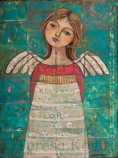 """""""Maker of Them All"""" Original Painting by Teresa Kogut. """"Rich & poor have this in common; the Lord is maker of them all"""" Prov 22:2"""