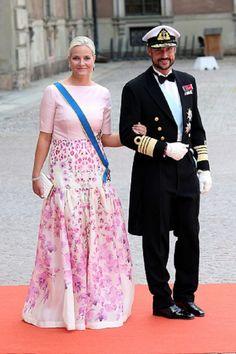 Crown Princess Mette-Marit of Norway and husband Crown Prince Haakon of Norway