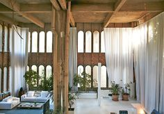 This brutalist cement factory turned home is the work of Architect Ricardo Bofill. If there were ever such a building that could be called brutalist Architecture Renovation, Interior Architecture, Architecture Diagrams, Futuristic Architecture, Design Studio, House Design, Ricardo Bofill, Deco Restaurant, Adaptive Reuse