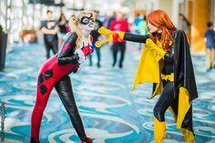 Harley Quinn and Batgirl #cosplay | Long Beach Comic & Horror Con 2013