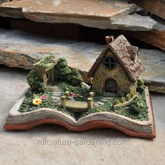 Miniature Gardening - Fairy Village Storybook with Lights