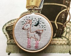 Pinky Patrice is the prettiest doe in the woodland. Her mama knit her some pink socks to keep her warm under the blue moon light.  For the confident beginner to intermediate level embroiderer, this kit contains everything you will need to make this sweet little sampler. It uses 3 stitches and 5 colors of embroidery floss. The stitch guide also includes variations on the stitches used to easily create your own design. * It is considered a level 2 embroidery kit because it uses a lot of the…