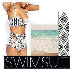 #Swimwear#Beach by joziee on Polyvore featuring polyvore fashion style Full Tilt clothing ruffledswimwear