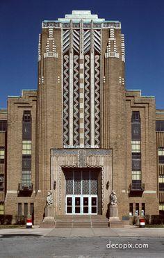 #ArtDeco | Bloom High School, Chicago, Illinois