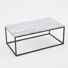 simple perfect // west elm marble and steel coffee table #modern #classic