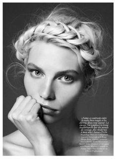 When in doubt, Jade braids it out #ghdpastels #milkmaid #braid