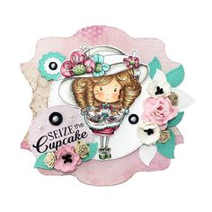 Little Darlings Polkadoodles Winnie Time for Tea Stamp and Paper Kit