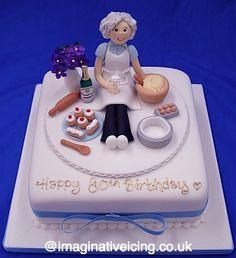 adorable 'granny baker' cake