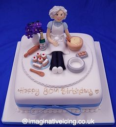 adorable 'granny baker' cake  -Wendy Schultz via Sue Lassman onto Cake Decoration.