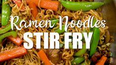 Top Ramen Recipes, Asian Recipes, Chicken Recipes, Noodle Recipes, Stir Fry Ramen Noodles, Fried Ramen, Ramen Noodle Chicken Stir Fry, Vegetarian Ramen, Vegetarian Recipes