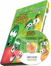 Personalized Veggie Tales DVD.  So cute!