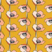 Chalyer Floral Stripe Mustard by kirstenkatz