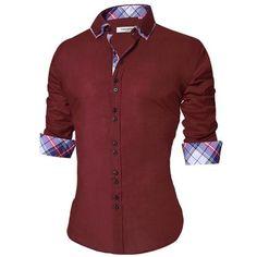 d98cc257e92 2018 Men S Casual Shirt Slim Fit Men S Casual Button Down Shirt Long Sleeve  Form
