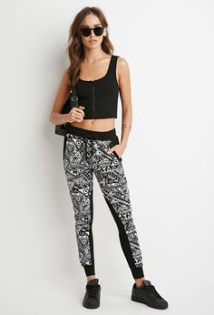 Abstract Geo Print Joggers - Trousers - 2000155284 - Forever 21 UK