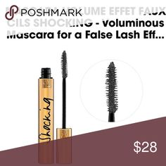 NIB YSL Shocking Volume Mascara Brand new. 100% authentic. Never used. Just a white Mark on the outside of box from where price tag was removed but of course this does not impact product at all :) shade is #8 Noor Asphalt (deep charcoal grey-black). Full size. Yves Saint Laurent Makeup