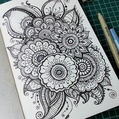 дудлы цветы зентангл - Поиск в Google