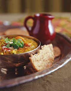 Spicy vegetable dhal - - Need to find Gram Masala here in Germany. This would be a great start to cooking Indian. Spicy Recipes, Curry Recipes, Veggie Recipes, Indian Food Recipes, Healthy Recipes, Free Recipes, Vegetarian Comfort Food, Vegetarian Cooking, Vegetarian Recipes