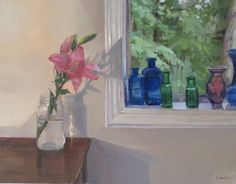 Original fine art oil painting Pink Lily by the by SedwickStudio, $700.00