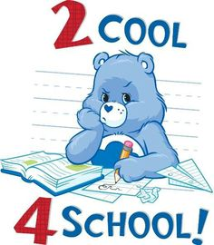 *2 cool 4 school! Grumpy Care Bear Cute Images, Cute Pictures, Grumpy Care Bear, Bear Clipart, Rainbow Brite, Holly Hobbie, Old Cartoons, Old Tv Shows, Care Bears