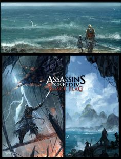 An Asian-styled rendering of Assassin's Creed Black Flag.