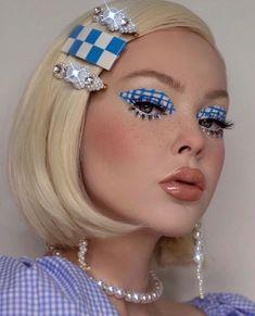 Cute Makeup Looks, Makeup Eye Looks, Eye Makeup Art, Crazy Makeup, Skin Makeup, Makeup Inspo, Makeup Inspiration, Beauty Makeup, Retro Makeup