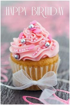 52 Sweet or Funny Happy Birthday Images – My Happy Birthday Wishes - Geburtstag Happy Birthday Cupcakes, Happy Birthday Flower, Birthday Love, Birthday Ideas, Happy Birthday Cakes For Women, Birthday Freebies, Queen Birthday, Birthday Crafts, Cool Happy Birthday Images