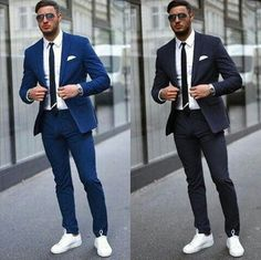 Blazer Outfits Men, Stylish Mens Outfits, Blue Blazer Outfit Men, Casual Blazer, Casual Outfits, Mens Fashion Suits, Mens Suits, Luxury Mens Clothing, Men's Clothing