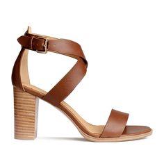 Sandales à talons cognac H & M