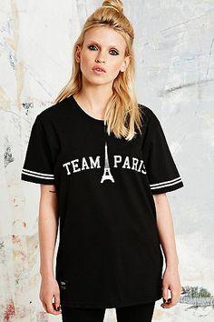 Misbhv Team Paris Tee in Black - Urban Outfitters