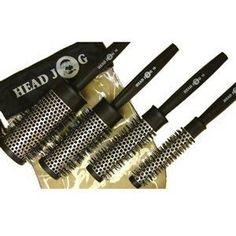 Head Jog QUAD Heat Retaining Brush Set 4 Piece in Zip-Up Bag