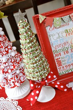 Little Birdie Secrets: foam christmas tree tutorial {ribbon covered}