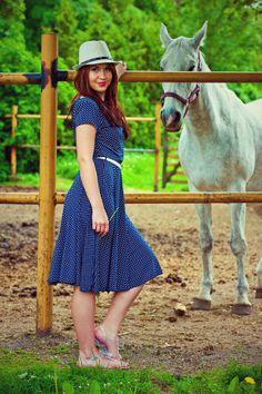 country style polka dot dress