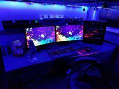 Rate my setup! Laptop Gaming Setup, Gaming Room Setup, Gaming Rooms, Computer Setup, Gaming Computer, Office Setup, Pc Setup, Home Office Decor, Video Game Rooms