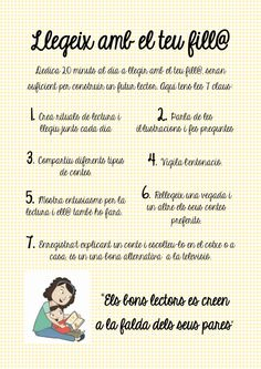 Llegeix amb el teu fill by juliaallespons, via Slideshare Silhouette Portrait, Lectures, Conte, Parenting Hacks, Books To Read, Encouragement, Language, Teacher, Reading