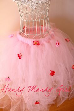 Pink blossom princess tutu ,flower girl tutu,tea party,tutu with flowers, Fairy costume Halloween-size newborn to adult available on Etsy, $80.00