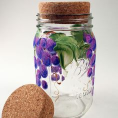 Replace a Wide Mouth mason jar lid with this decorative cork insert.